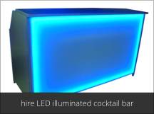 hire LED cocktail bar