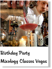 birthday party mixology classes las vegas